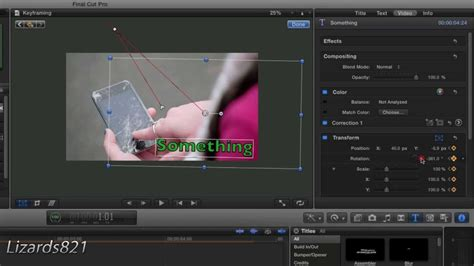 tutorial final cut pro x indonesia how to keyframe in final cut pro x tutorial 4 youtube