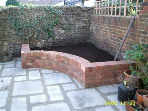 brick flower bed raised flower bed brick pinterest gardens raised