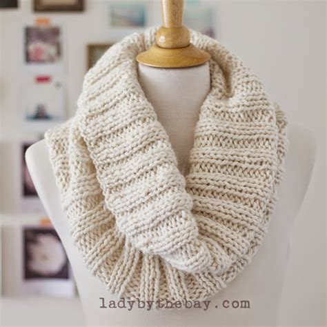 knitting pattern scarf circular needle lady by the bay cozy ribbed scarf pattern