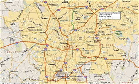 atl map big atlanta map