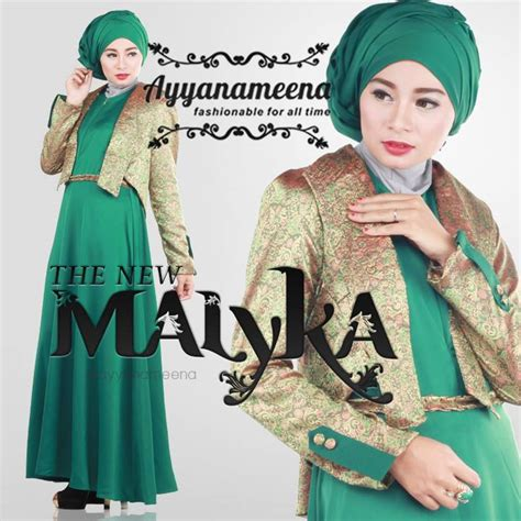 Mutif 171 Size Xxxl New Fashion Baju Muslim Gamis gaun muslim pesta baju muslim terbaru ayyanameena new malyka