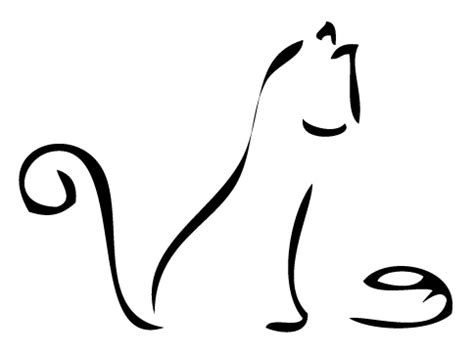 cat tattoo line drawing simple line art drawings clipart best