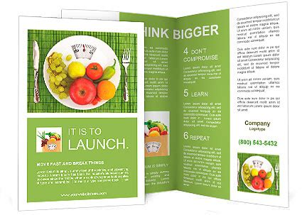 diet and nutrition brochure template design id
