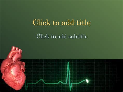 animated cardiology powerpoint template free medical