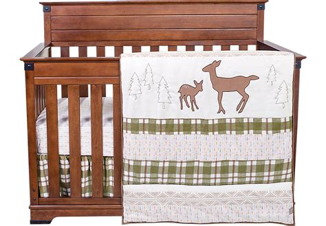 Baby Deer Crib Bedding Sets Deer Lodge Baby Bedding Set Crib Linens Green