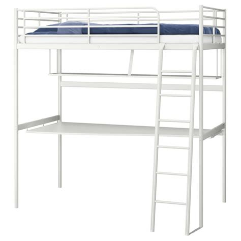 Ikea Loft Bed Frame Troms 214 Loft Bed Frame With Desk Top Ikea Likes It With The Desk Guess That