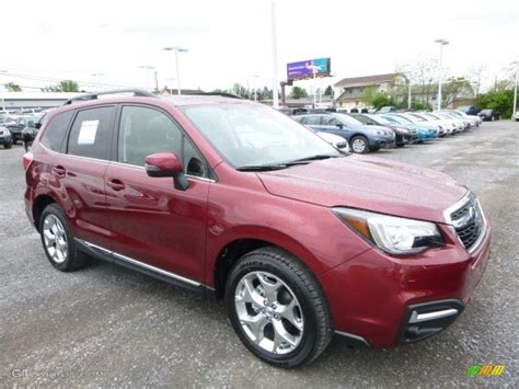 red subaru forester 2017 2017 venetian red pearl subaru forester 2 5i touring