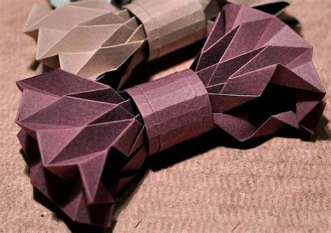 Origami Bow Tie - how to make a bowtie origami paper origami guide