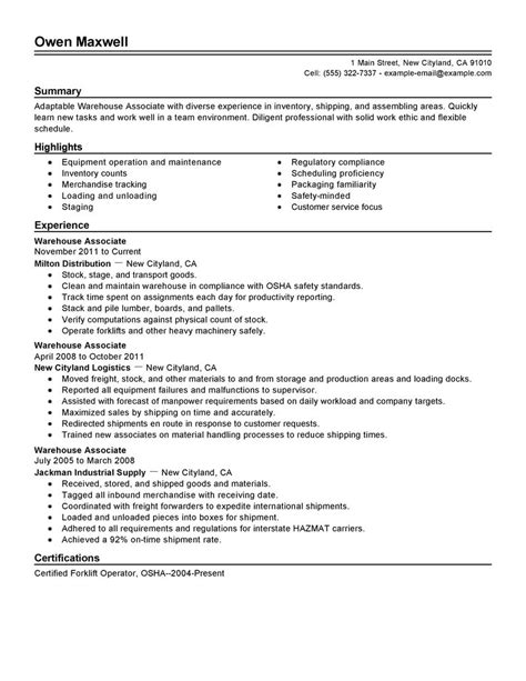 Resume Sle In Production Worker Big Warehouse Production Exle Traditional 2 Design