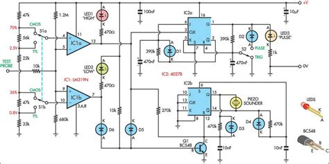 probe circuit diagram logic probe schematic schematic logicprobe png