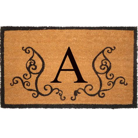 Monogram Welcome Mat Monogrammed Welcome Mat In Doormats