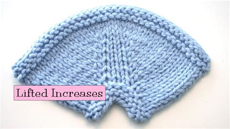 increase in next stitch knitting knitting help lifted increases