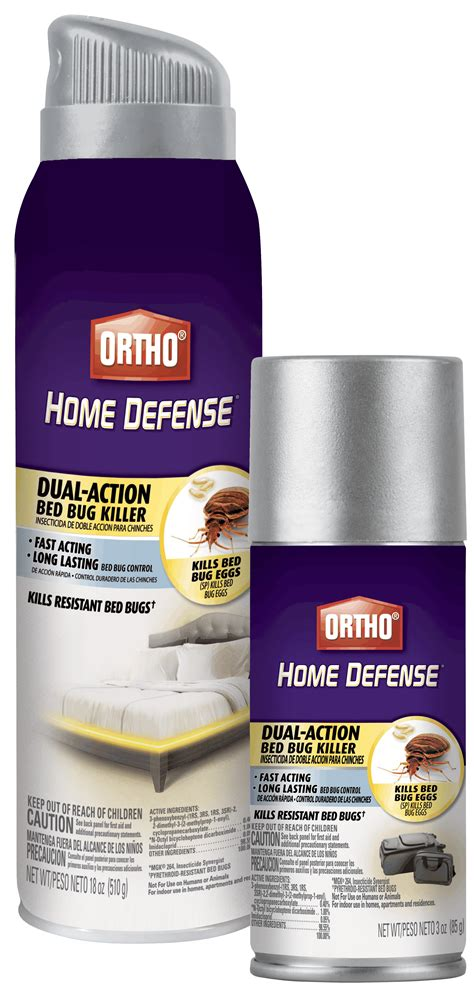 bed bug spray ortho home defense dual action bed bug killer