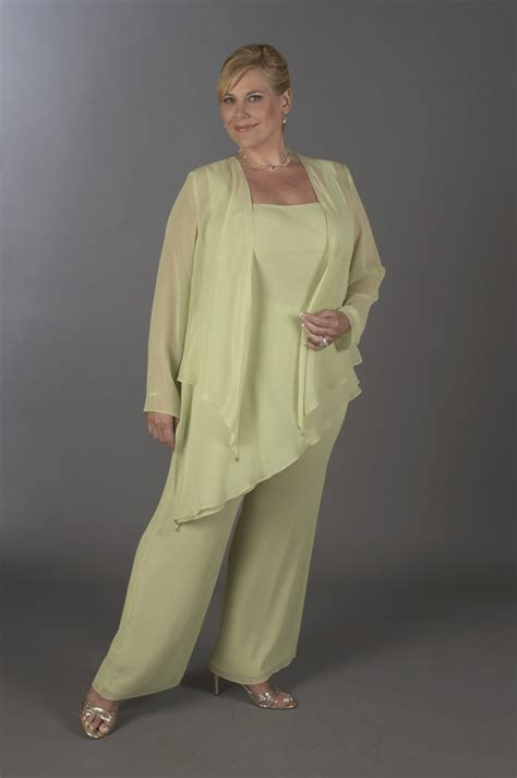 Ursula Plus Size Formal Chiffon Pant Suit 41882: French