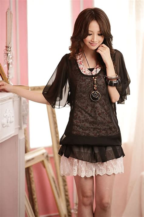 New Korean Style Blouse Chiffon Combination With Mote 129 best my style images on my style cheap