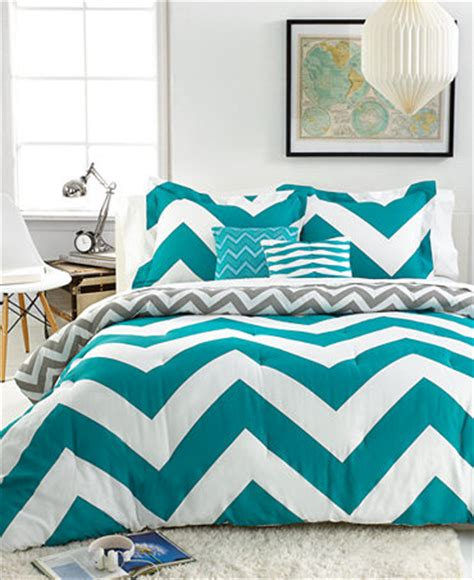 chevron bed sets chevron teal 5 piece comforter sets bed in a bag bed