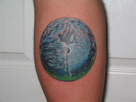 tattoo meaning earth kansas point of know return an earth tattoo depicting an