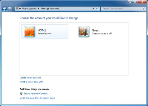 windows 7 password reset guest account how to create a password for a user account in windows 7