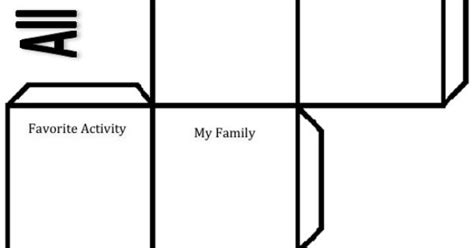 all about me cube template for the beginning of the year revisiting get to you