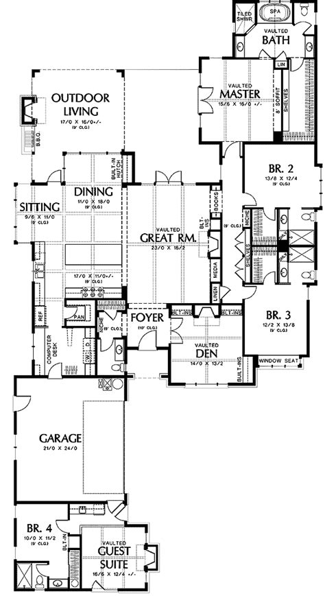 attached guest house plans home deco plans