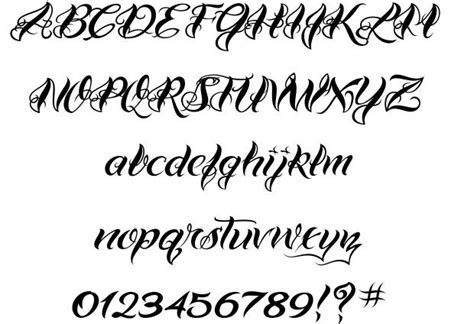 tattoo fonts tester vtc bad one font by vigilante typeface