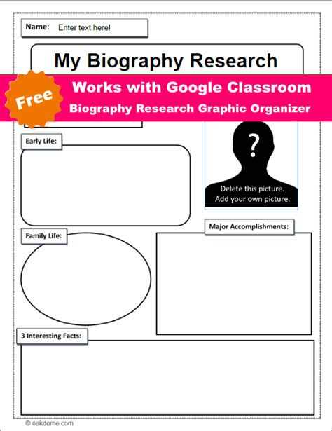 graphic organizer for biography research pretty autobiography graphic organizer template