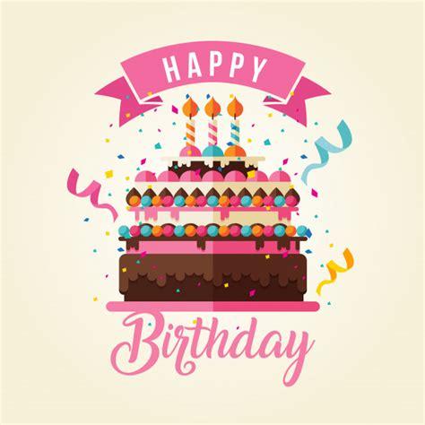 clipart gratis compleanno tema della torta scheda di buon compleanno illustrazione