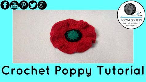 youtube poppy pattern poppy flower crochet tutorial design 1 of 3 5000