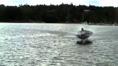 airfoil boat hydrofoil thrilling swedish invention youtube