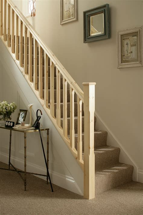banister newel stop chamfered 41mm stair spindle blueprint joinery