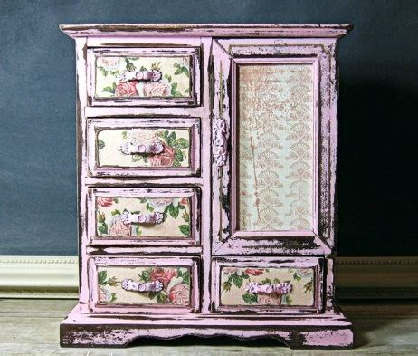 Decoupage Furniture With Wallpaper - use of leftover wallpaper furniture