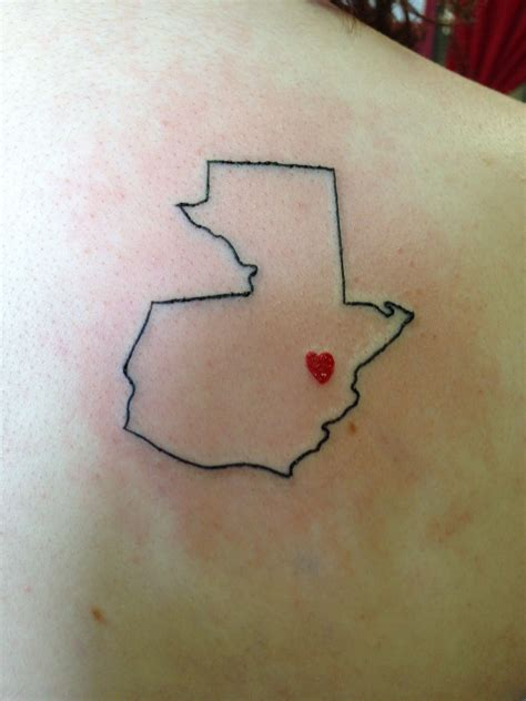 guatemala tattoos i want this but with a footprint where guatemala city is