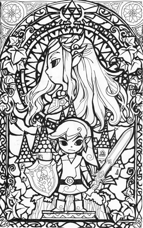 wind waker zelda pattern zelda blackwhite glass window by aiduqui on deviantart