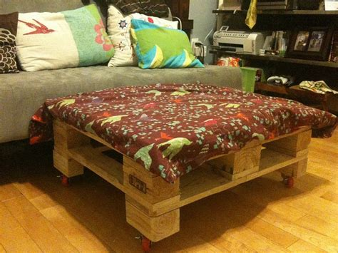 ottoman from pallet diy pallet ottoman an affordable multipurpose solution