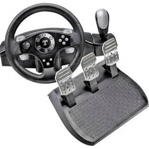Steering Wheel And Shifter With Clutch For Xbox 360 Tflorio Racing Wheels