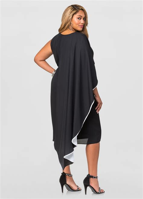 Cape Dress 2 by Two Tone Half Cape Dress Plus Size Dresses Stewart