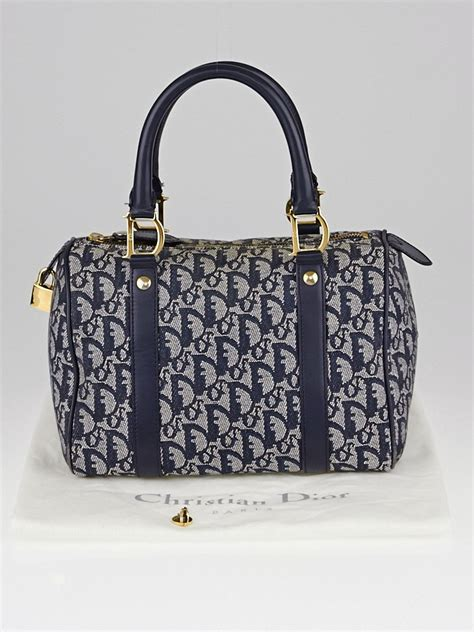 Diorissimo Boston Bag by Christian Blue Diorissimo Canvas Small Boston Bag
