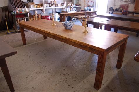 large parsons style farm table modern dining room