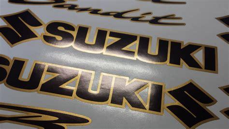 Suzuki Bandit Decals Suzuki Bandit 2 Colour Decals Stickers Black Gold