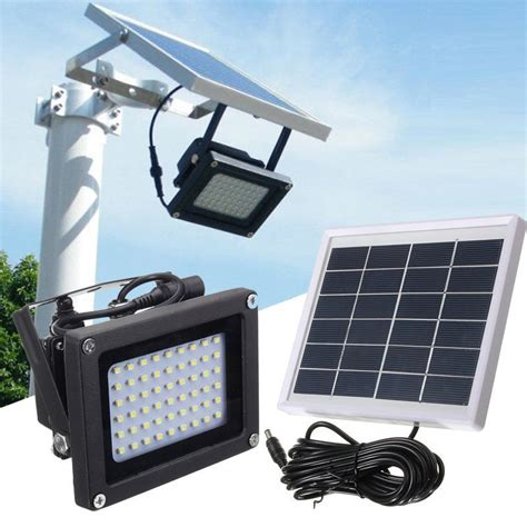 Outdoor Solar Flood Lights Led Solar Powered 54 Led Dusk To Sensor Outdoor Security Flood Light Waterproof Ebay