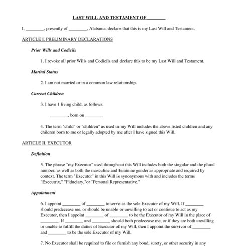 last wills and testaments free templates last will and testament template word pdf