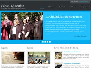school education  website template  css templates  css