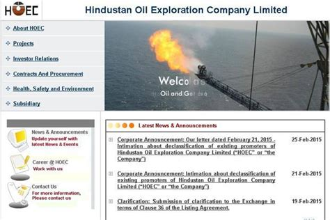Hindustan Petroleum Corporation Limited Recruitment 2015 For Mba by Hindustan Exploration Working On A Turnaround Plan