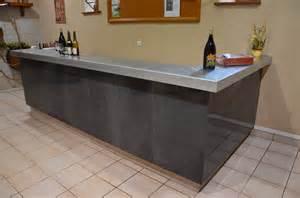 piste de bar en zinc avec bordure n 176 1