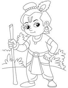 krishna sudama free colouring pages