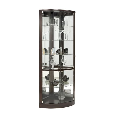the black corner curio cabinet with light