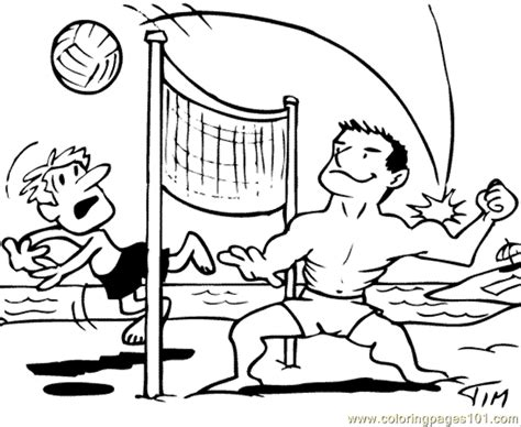 cartoon volleyball coloring page coloring pages beach volleyball sports gt volleyball
