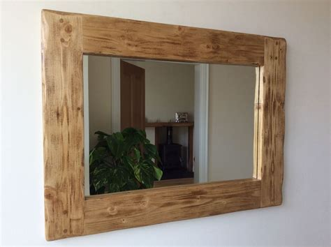 Handmade Wooden Mirrors - beautiful quality handmade chunky rustic wooden mirror