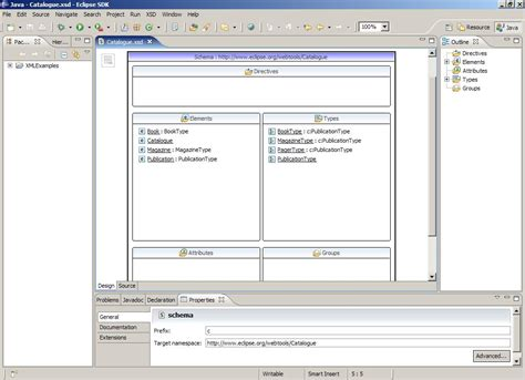 xml editor design view introduction to the xsd editor eclipsepedia