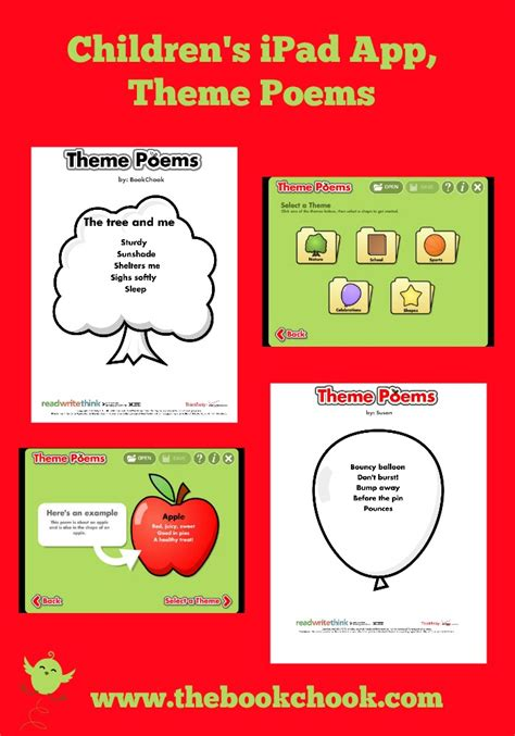 theme list for poems the book chook children s ipad app theme poems
